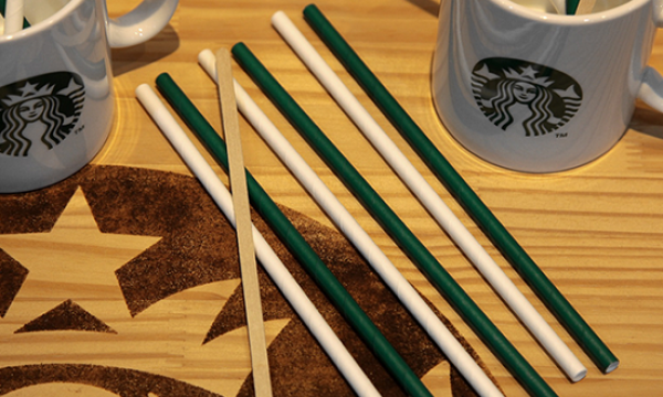 Starbucks Indonesia starts using paper straws in all outlets. 98