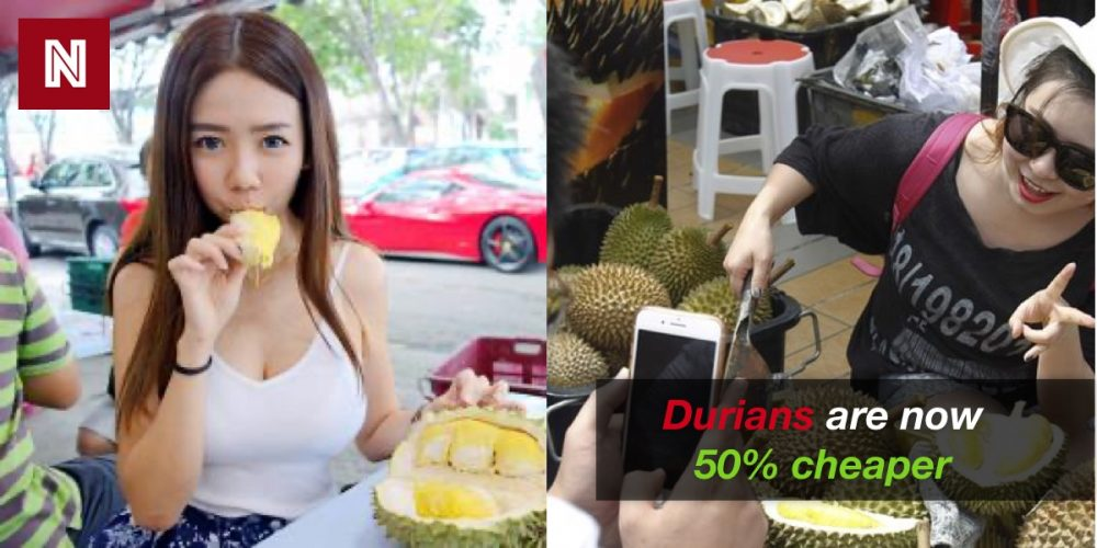 Durians 50% cheaper now due to drop in Chinese buyers. 97
