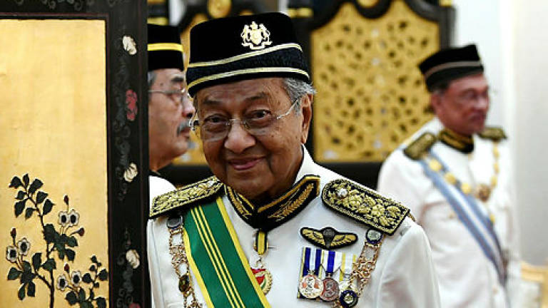 Mahathir is back, but now as 'interim' Prime Minister. 14