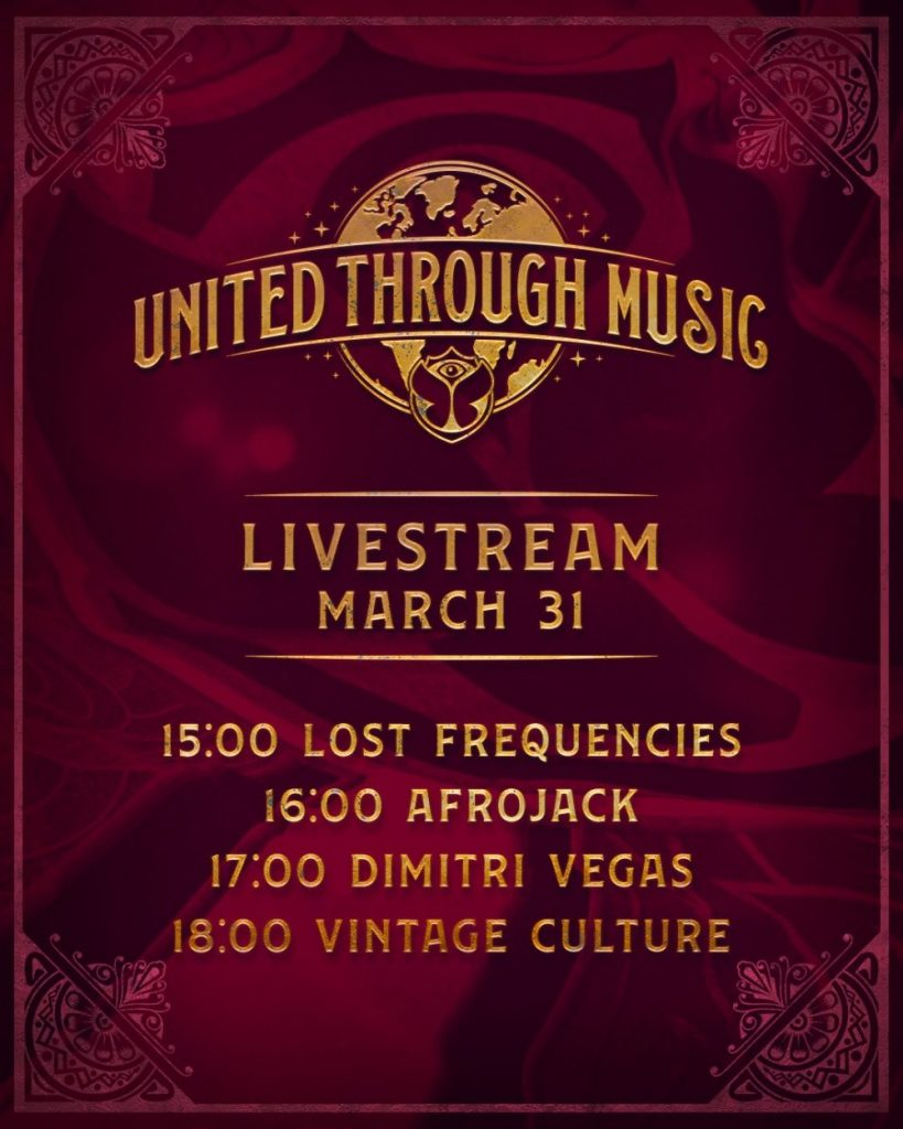 Tomorrowland is hosting 4-hour livestream event: United Through Music 74