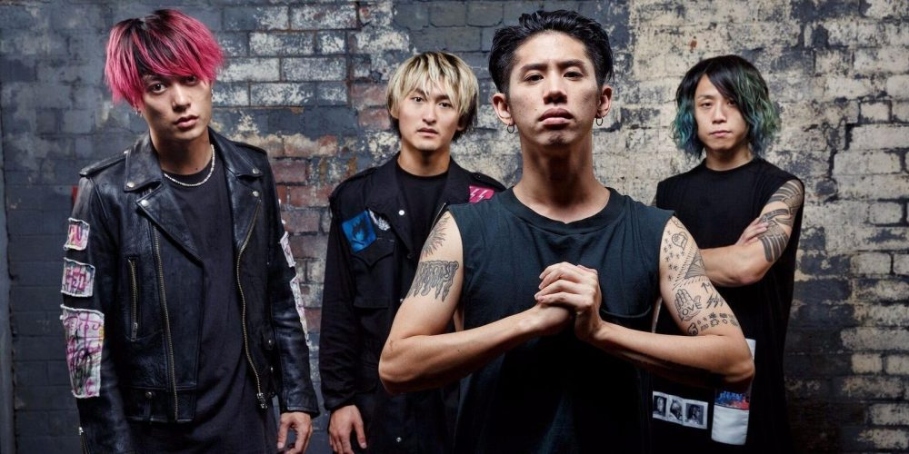 One OK Rock Band. From left: Toru, Ryota, Taka, and Tomoya.