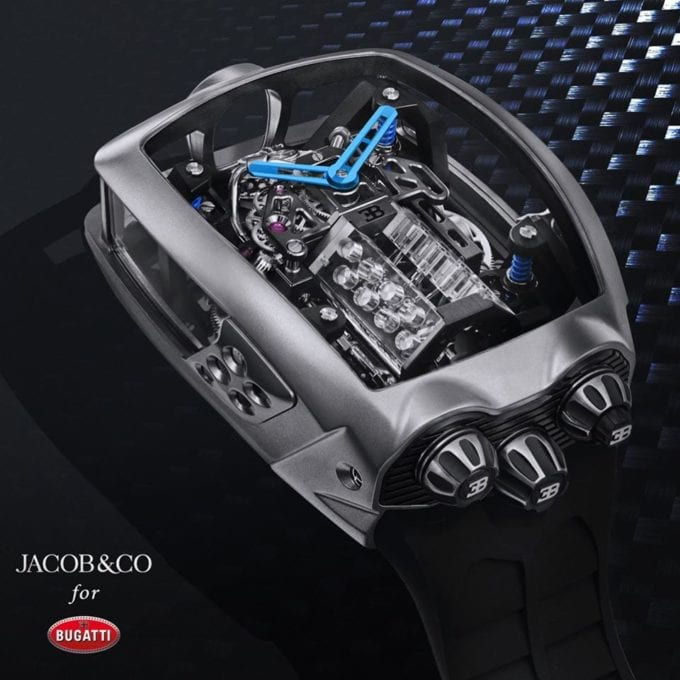 Jacob & Co. puts an engine in the new Bugatti Chiron Tourbillon watch 8
