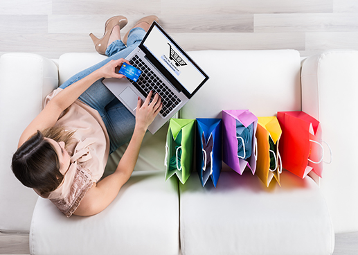 online shopping using credit card