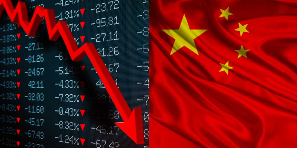 China's Economy shrinks for first time 13