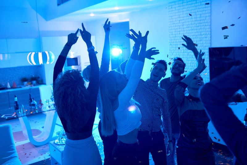 Many private parties are still going on in the US.