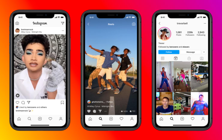 Instagram Reels launches to fight TikTok. 98