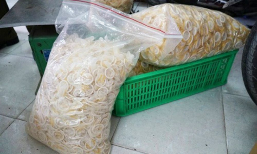 Condom recycling factory busted for washing & reselling condoms in Vietnam 74