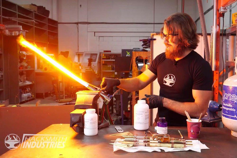 Man creates real-life Star Wars lightsaber that cuts through metal 62