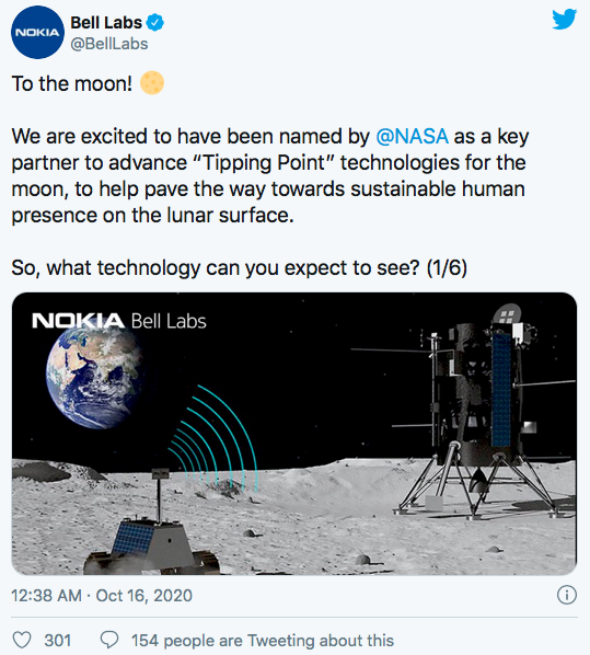 Nokia to put 4G network on the Moon together with NASA 98