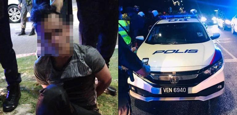 Man steals police car to impress girlfriend; gets arrested. 73