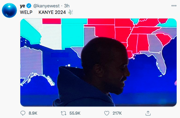 Kanye West only gets 57,000 supporters for his presidential run 98