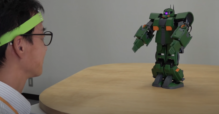 Japanese researchers have created a mind-controllable Gundam robot 97