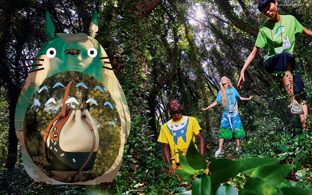 """Loewe Debuts """"My Neighbor Totoro"""" Capsule Collection; Available on January 62"""