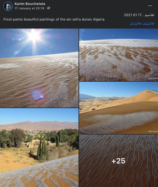 Beautiful Sahara shots; one of the hottest deserts painted white by snowfall 76