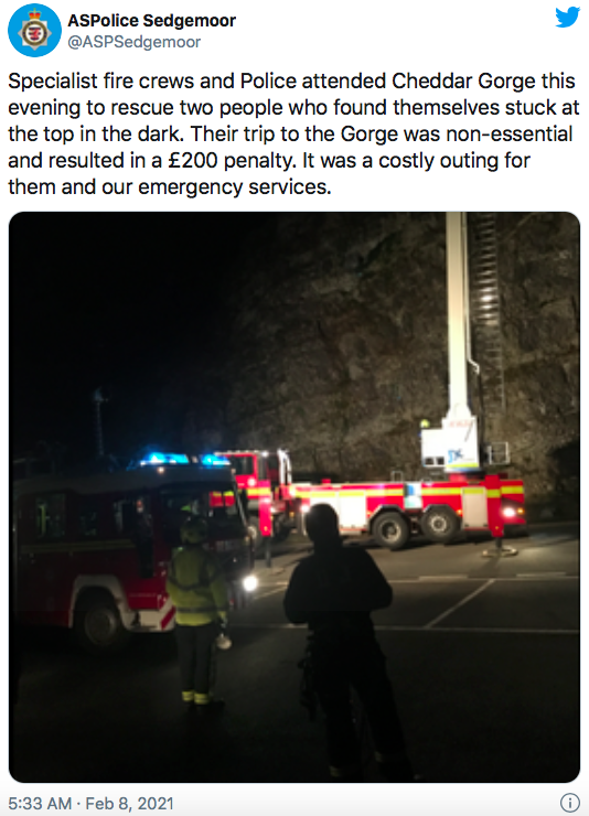 A UK rescuer got badly injured trying to save lockdown breaker who went camping 56