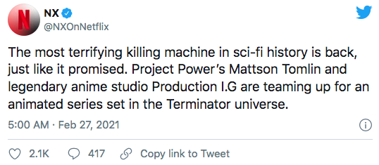 Terminator will be back in a Netflix anime series 75