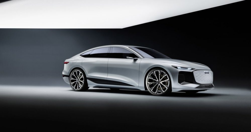 Audi A6 e-tron debuts in Shanghai, able to play games using its LED headlamps 56