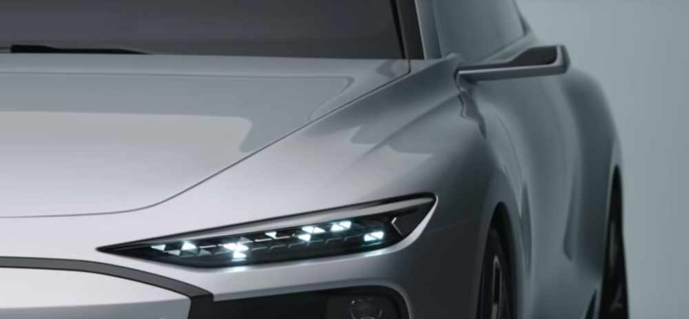 Audi A6 e-tron debuts in Shanghai, able to play games using its LED headlamps 57