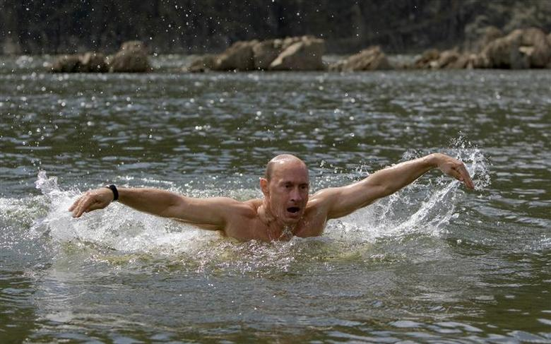68 years-old masculine Vladimir Putin voted the most attractive man in Russia 68
