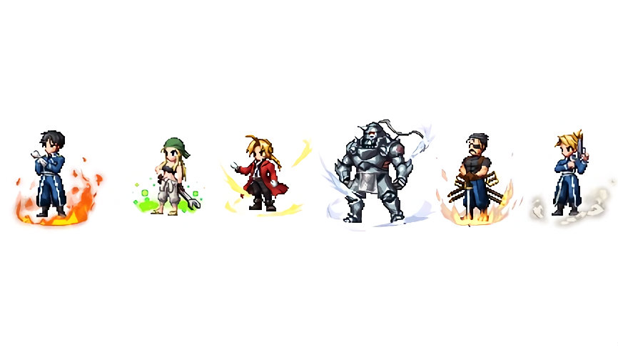 Fullmetal Alchemist characters join in the battle of Final Fantasy game 62