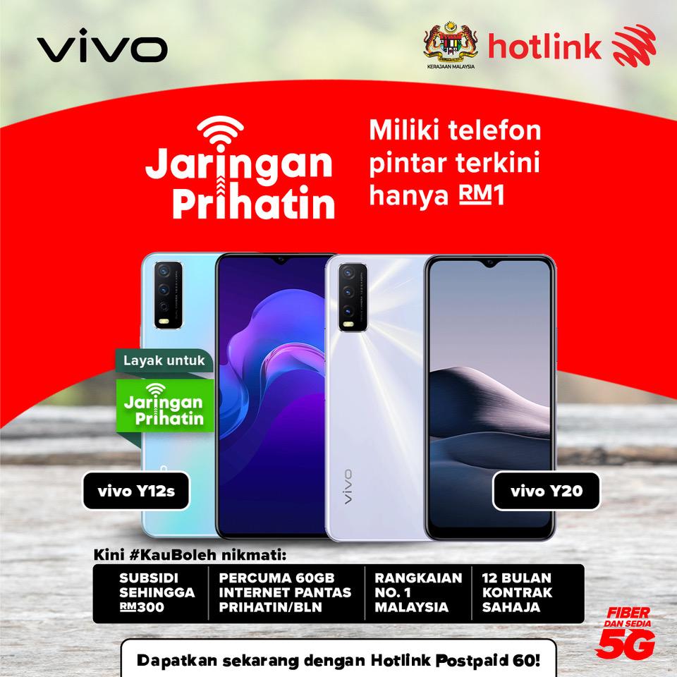 Malaysians can get vivo phones as low as RM1 under Jaringan Prihatin via Hotlink Postpaid 74