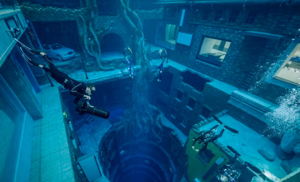 Deep Dive Dubai, the world's deepest diving pool with sunken city & caves, opens doors 70